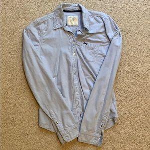 Abercrombie & Fitch light blue button down shirt